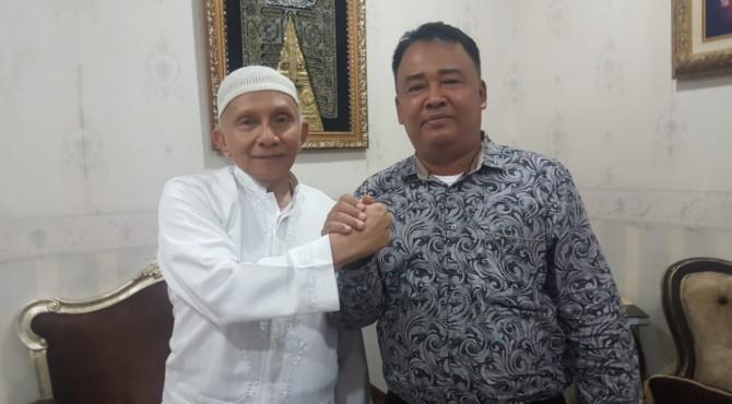 Ketua DPD Pessel, Yul Afnedi bersama Ketua Dewan Kehormatan DPP PAN, Amin Rais