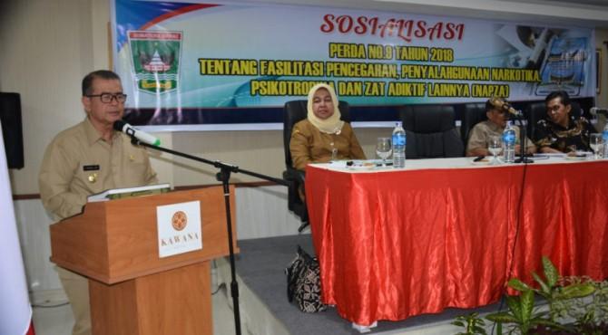 Wagub Sumbar Nasrul Abit Sosialisasi Perda Pemberantasan Narkoba