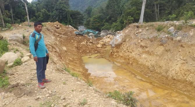 Area lokasi pengelolaan Galian C di Palangai Gadang Ranah Pesisir