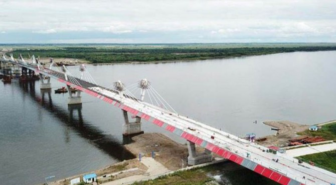 Jembatan yang menghubungkan Cina-Rusia