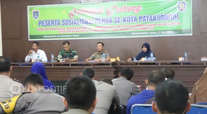 Sosialisasi Perda oleh Satpol PP Kota Payakumbuh.