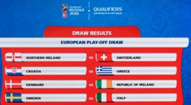 Drawing Play Off Piala Dunia Zona Eropa