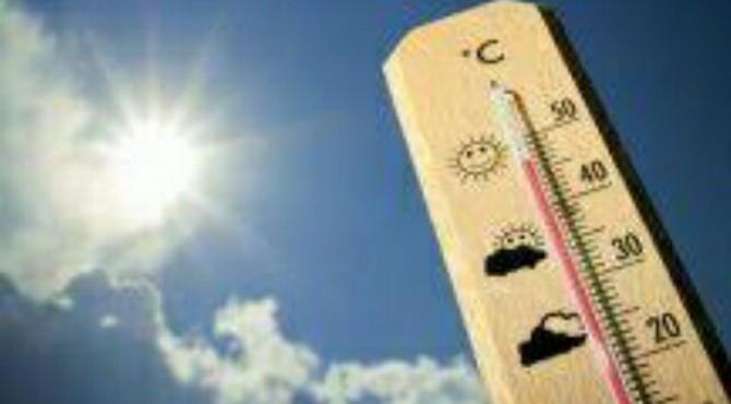 ilustrasi cuaca panas.