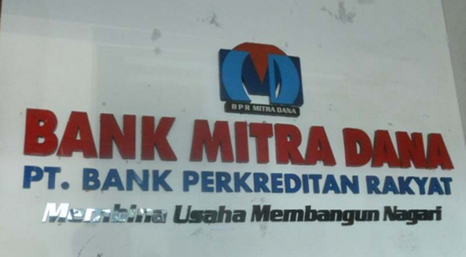 PT. Bank Perkreditan Rakyat (BPR) Mitra Dana Pasaman Barat.