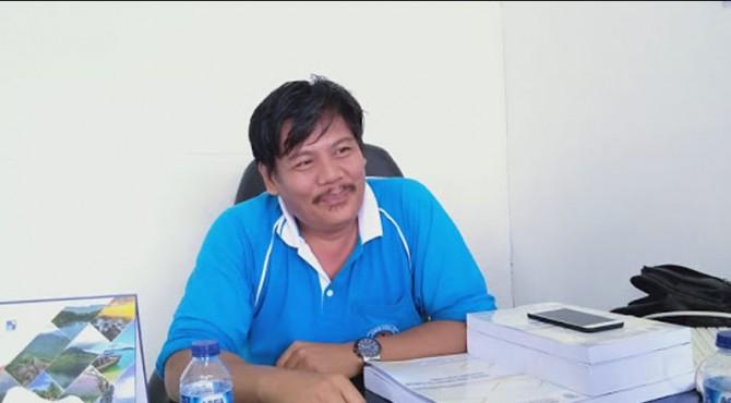 Kepala Bidang (Kabid) Perumahan DPKP Mentawai Irdelius T. Oinan