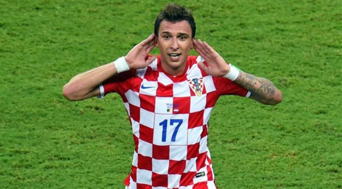 Mario Mandzukic saat membela Timnas Kroasia.