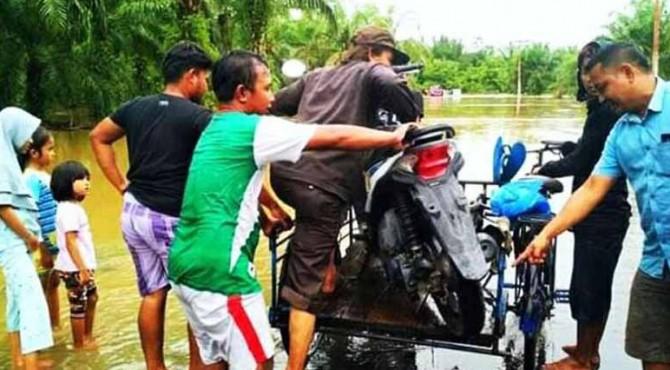 Lokasi Banjir di Kecamatan Sungai Beremas Pasbar pada (21/8) lalu
