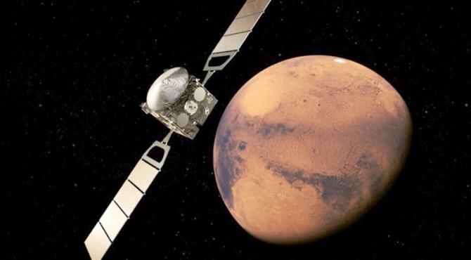 ilustrasi penampakan planet Mars.