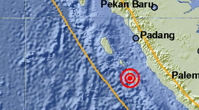 Lokasi gempa Muko-muko Bengkulu, Rabu (24/08/2016)