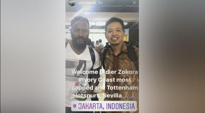 Postingan di Instagram @gabrielbudi setelah kedatangannya di Bandara Soekarno Hatta, Jakarta.