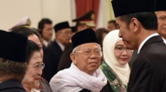 Presiden Joko Widodo (Jokowi)  saat pelantikan Pengarah dan Kepala UKP PIP di Istana Negara