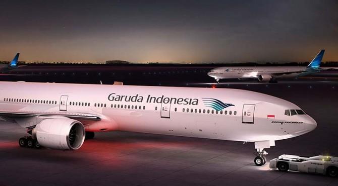 Garuda Indonesia catat kerugian pada Semester I