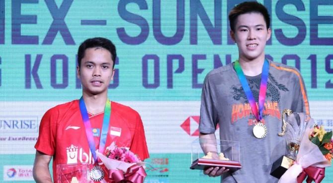 Anthony Ginting jadi Runner up Hong Kong Open 2019