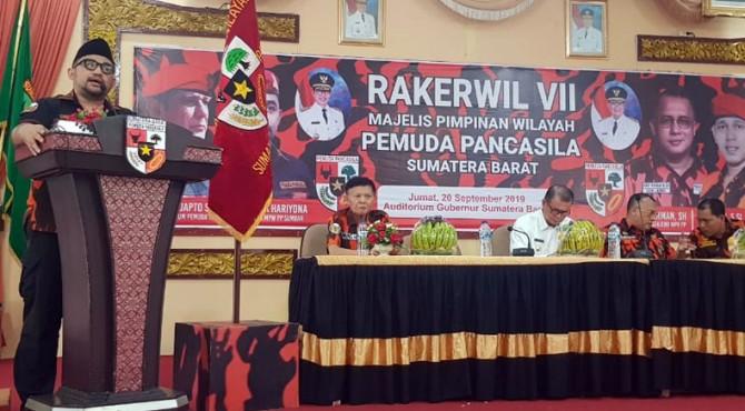 Pidato Ketua DPW PP Sumbar, Erik Hariyona