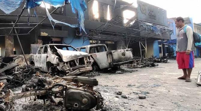 Kondisi di Papua pasca kerusuhan.