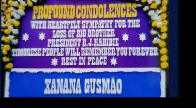 Xanana Gusmao kirim karangan bunga untuk kepergian BJ Habibie.