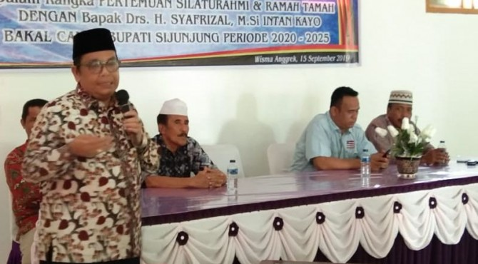 Kabiro Umum Kemenag RI, Syafrizal di Wisma Anggrek Muaro Sijunjung, Minggu 15 September 2019