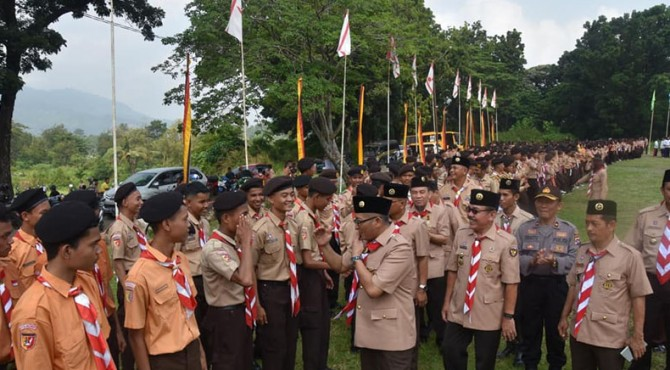 Wakil Wali Kota Padang Hendri Septa sapa para peserta Giat Prestasi
