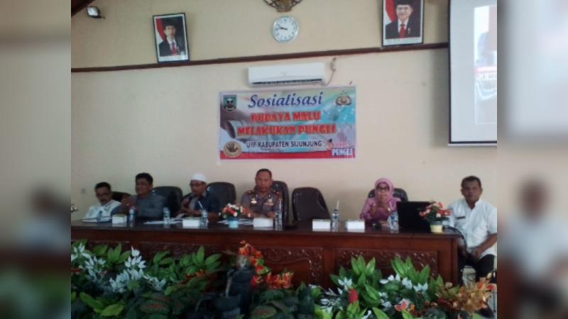 Sosialisasi Pencegahan Pungutan Liar Oleh Ketua Unit Pemberantasan Pungli (UPP) Kabupaten Sijunjung Kompol Suyanto
