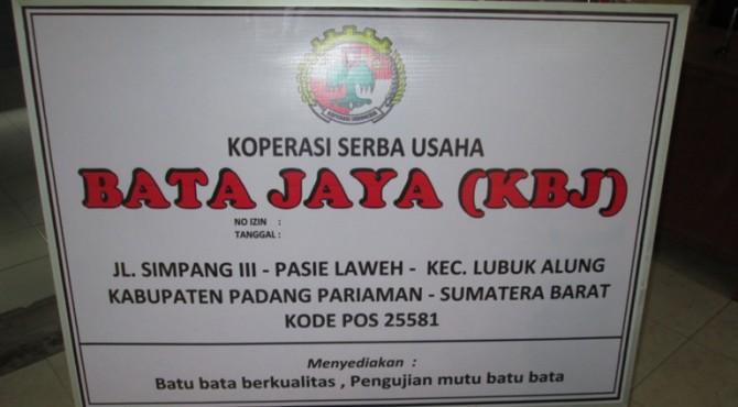 Koperasi Serba Usaha Bata Jaya (KSUBJ) wujud komitmen dari Yayasan Bangunan Cermerlang Indonesia/Build Change