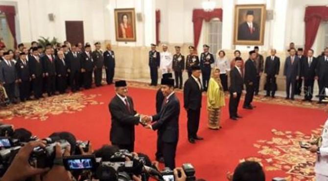 Upacara Penganugerahan Gelar Pahlawan Nasional Tahun 2018, berlangsung di Istana Negara, Jakarta, Kamis (8/10/2018) pukul 13.10 WIB.