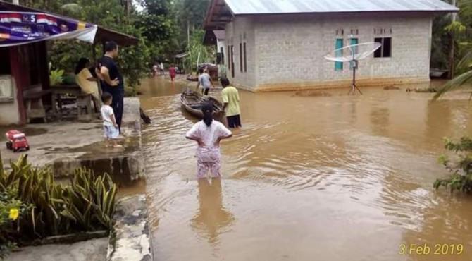 Banjir yang terjadi di Kabupaten Limapuluh Kota.
