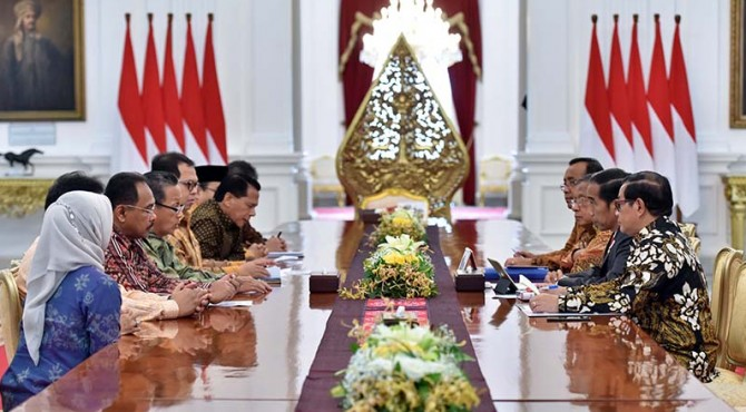 Pertemuan BPK RI dengan Presiden Joko Widodo