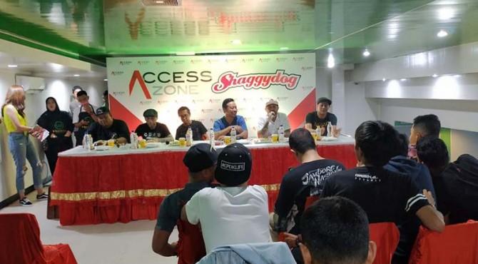 Jumpa pers Shaggy Dog jelang konser di Kota Solok.