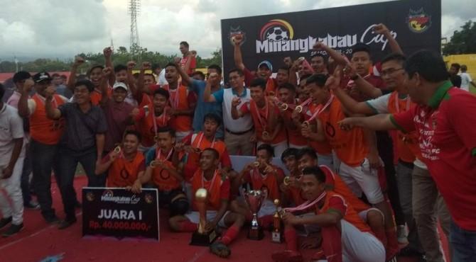 Euforia Kemenangan Tim Kecamatan Talawi di Stadion Haji Agus Salim, Sabtu 23 Maret 2019