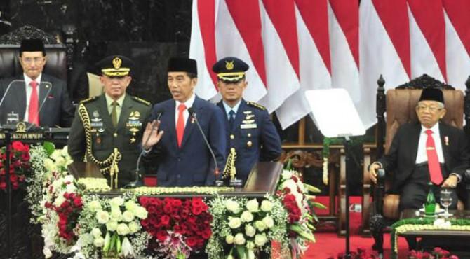 Pelantikan Presiden Joko Widodo dan Wakil Presiden Ma'ruf Amin