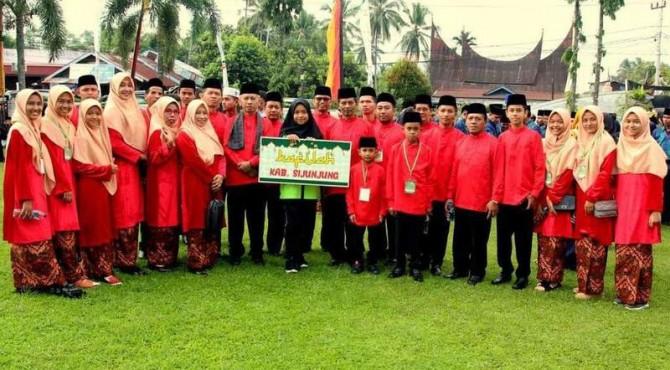 Kontingen Kabupaten Sijunjung di MTQ Nasional tingkat Provinsi Sumbar ke 38 di Kota Solok
