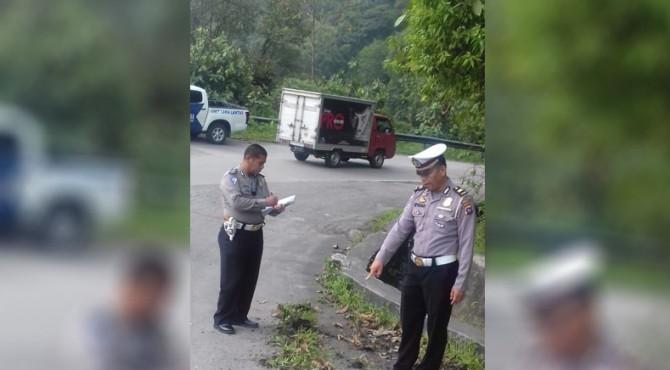 Polisi lakukan olah TKP di lokasi kejadian