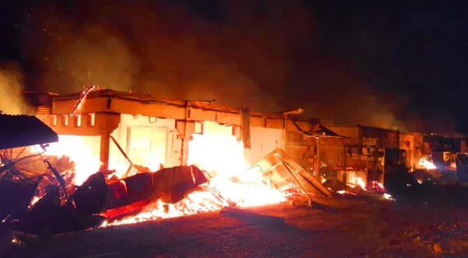 Kebakaran di Pasar Kuok Batangkapas