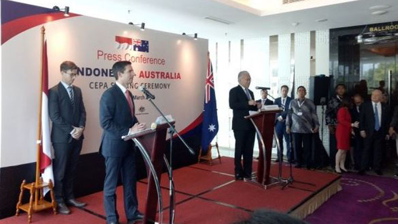 Indonesia akhirnya bersepakat melakukan perjanjian dagang dengan Australia