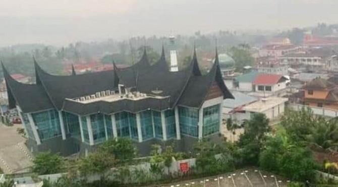 Kondisi udara di Kota Batusangkar.