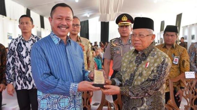 Wapres Maruf Amin dan Ketua Komnas HAM Ahmad Taufan Damanik.