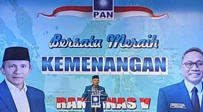 Amien mendapatkan kesempatan terakhir untuk menyampaikan tausyiahnya dalam Rakernas ke-V di Hotel Millennium, Jakarta Pusat, Sabtu (7/12/2019).