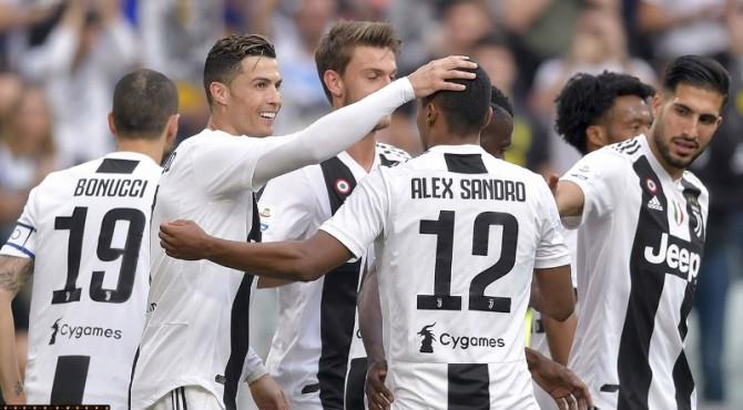 Selebrasi pemain Juventus