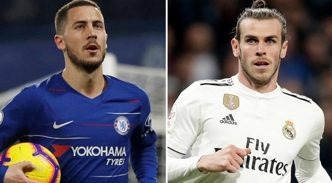 Eden Hazard dan Gareth Bale