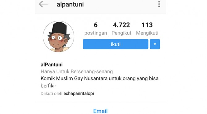 Akun komik gay di Instagram