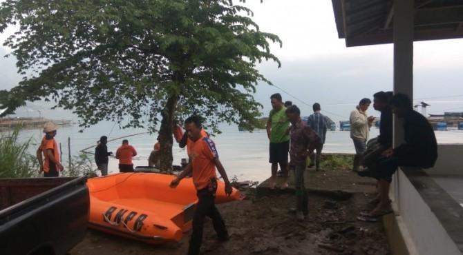 BPBD Agam siagakan perahu sebagai pengganti transportasi pasca jalan tertimbun longsor