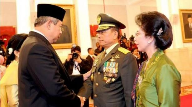 Moeldoko saat dilantik SBY jadi Panglima TNI