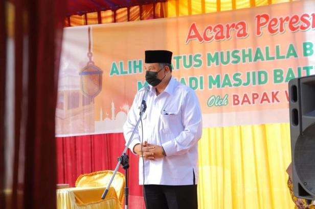 Wako Solok, Zul Elfian meminta jemaah memakmurkan masjid Baitul Maqdis.