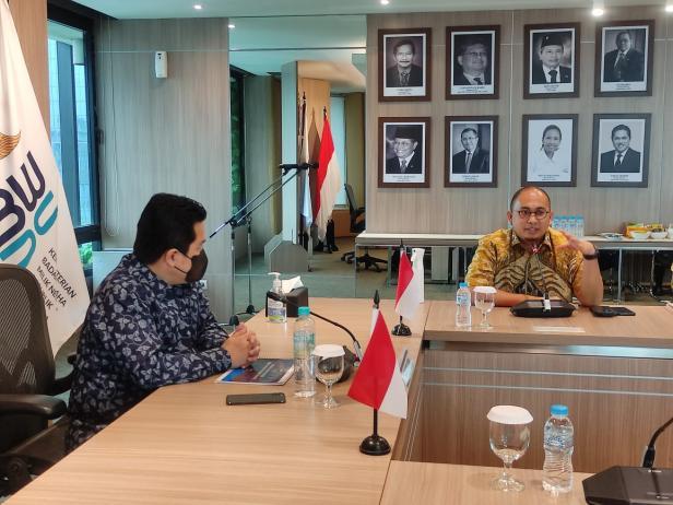 Lima bupati dan walikota di Sumbar melakukan pertemuan dengan Menteri BUMN Erick Thohir
