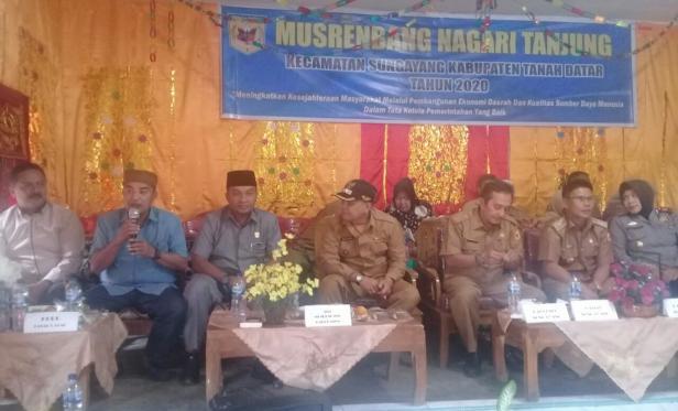 Musrenbang di Nagari Tanjung, Kecamatan Sungayang