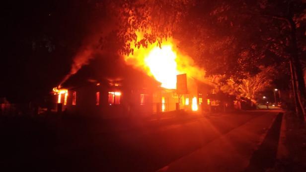 Peristiwa kebakaran di Asrama Putri Pondok Pesantren Cahaya Islam.