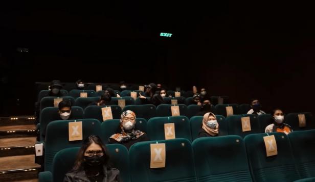 Suasana nonton bioskop di tempat yang dipesan Atta Halilintar