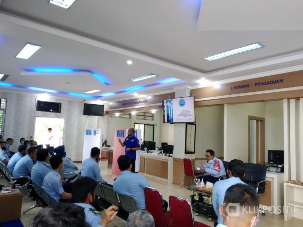 Kepala BNNK Payakumbuh saat sosialisasi di Kantor Imigrasi Kelas II Non TPI Agam