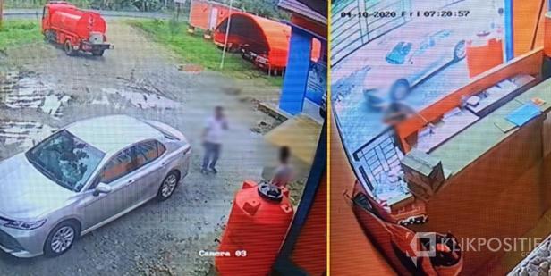 Screnshot hasil Rekaman CCTV di titik Camera 3 dan Camera 9 di BPBD Pasaman Barat