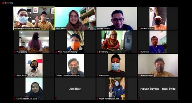 Debi Mersah, Kepala Bidang Pelayanan Peserta dan Kepesertaan BPJS Kesehatan Cabang Padang, melalui web seminar (webinar) dengan media massa di Sumbar, Selasa (6/10).